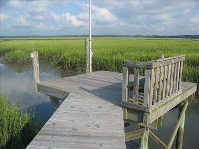 Private dock for fishing, crabbing, bird watching, sunset viewing