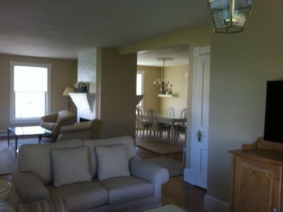 TV room, dining room and living room
