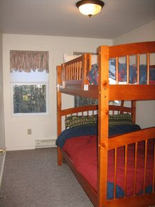Upstairs/back of the loft - a new D/D  bunk bedroom w/ w/in closet