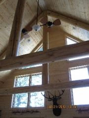 Munising cottage photo - Look at those beams!