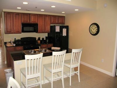 Splash Resort condo rental - Full Kitchen With Granite Countertops and Appliance Upgrade
