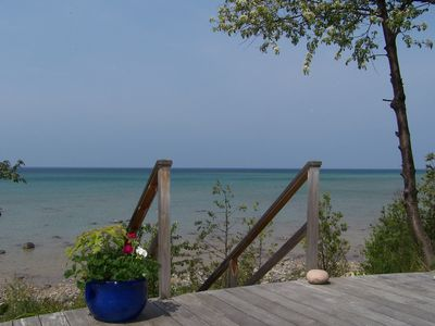 Harbor Springs chateau / country house rental - Stairs to beach from lower deck