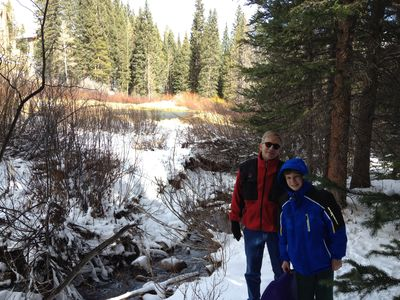 hiking the snowflake trail to the Breckenridge Outdoor Education center 1.2 mile