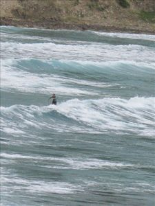 A happy surfer in Anse des Lézards when swell is high !