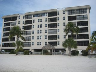 Fort Myers Beach condo photo - View from beach. This unit is a 4th floor corner unit.