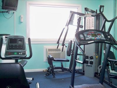 Keep fit in our weight and exercise room.