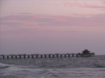 Naples Pier at sunset.