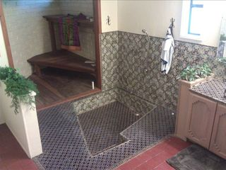 Ground floor master bathroom with sunken tub