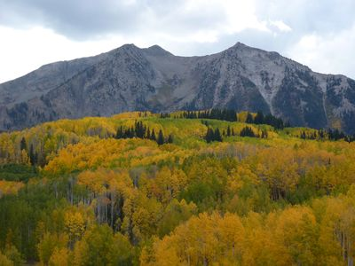 Crested Butte townhome rental - CB in the fall is spectacular