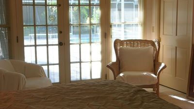 French Doors Leading from Queen's Honeymoon Master Suite to Pool