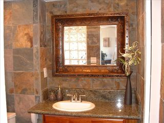 Kihei condo photo - Granite counter tops and natural stone walls in BA