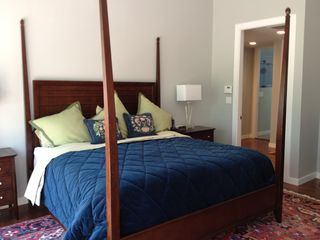 Bedford house photo - Master suite: king bed with Juliet balcony overlooking wildlife preserve