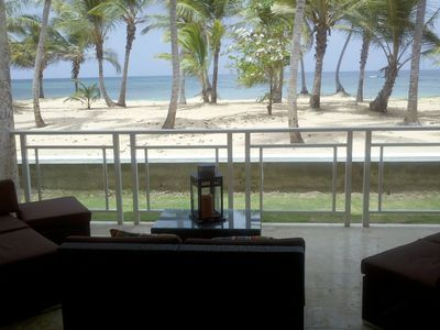 Luxury First-Line Two Bedroom Ocean Front Condo, Quiet Private Beach