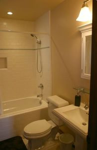Santa Barbara studio rental - Custom Bathroom With Subway Tiles