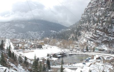 Walk to the Ouray Springs Pool year round.
