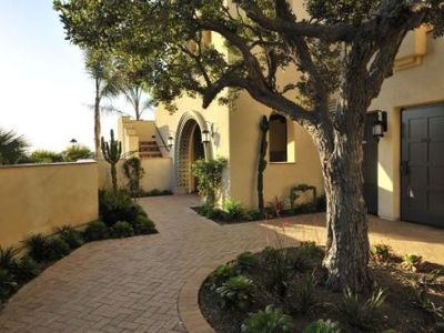Front enterance of Casita with views of the ocean and the resort's golf course.