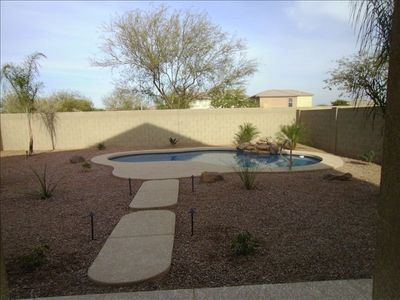 Goodyear house rental - Backyard Private Pool