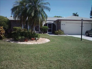 Cape Coral house rental - Nicely Landscaped, 3BR/2BA, 2 Car Garage, Near End of Court.