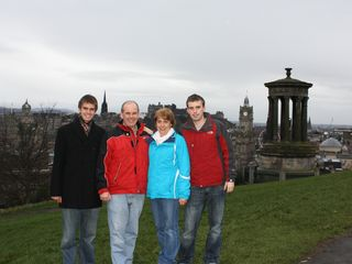 Paxton Family on Carlton Hill, December 24th 2012.