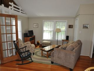 Unity cottage photo - Living room with wireless internet, TV, stereo and phone. All new furniture!