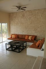"Akumal villa photo - The living room - complete with a 42"" LCD tv, blu ray player & stereo!"
