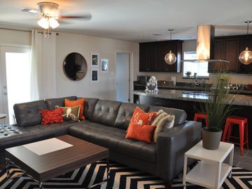 Downtown Scottsdale house rental - Modern & Fun Rental- Gray Leather Sectional, Great for Hanging Out