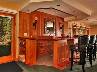Al Tahoe estate photo - Bar in the media/game room direct access to spa, deck, yard, and Lake Tahoe