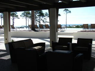 Santa Rosa Beach house photo - outdoor living area close to pool so you can get out of the elements