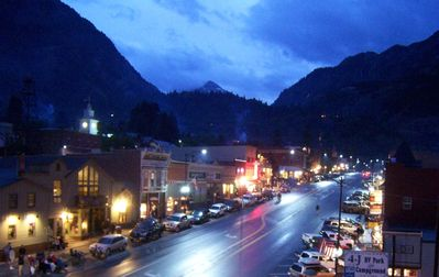 Main Street and Mountain views