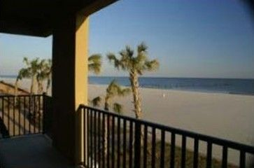 View from Front Balcony Showing Gulf of Mexico and 26 mile beach.