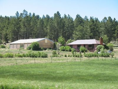 Angel Fire house rental - Home is set among forest and meadows.
