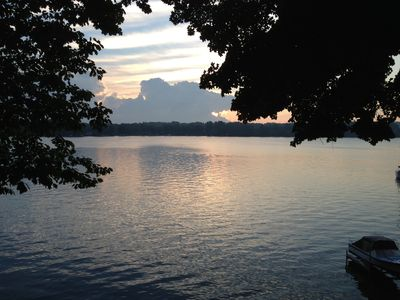 Rise early, drink your coffee, and enjoy the serene waters of Sodus Bay