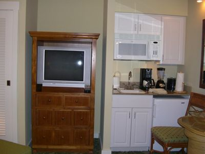 TV, coffee maker Microwave