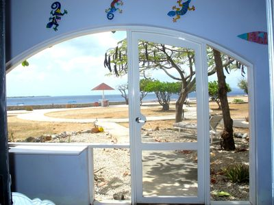 View of Klein Bonaire from screened in porch of A-3.