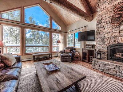 Upstairs living area with great views of Lone Peak.