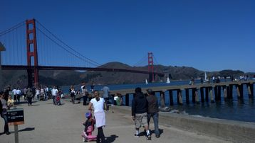 Golden Gate Bridge viewed from Crissy Field