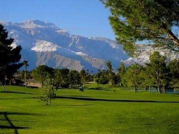 Desert Hot Springs house rental - Mission Lakes Golf Course with Mt. San Jacinto in background.