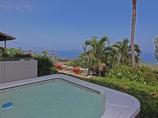 Keauhou studio photo - Hot tub with ocean view!