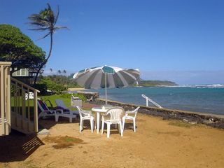 Anahola house photo - Relax in beach chairs on your own private beach