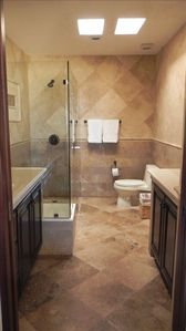 Master Bath; Skylights, Double Counter Tops and Sinks w/ the BEST Finishes!
