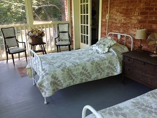 Warm Springs house photo - The famous sleeping porch with beds from VMI