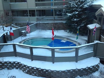 2 Pools on properrty, heated all winter ! Watch the kids from the unit !