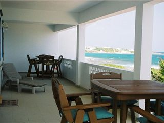 Anguilla villa photo - Large private deck overlooking the sea