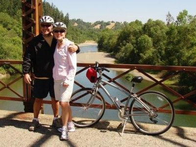 Biking, wine tasting on scenic Westside Rd.