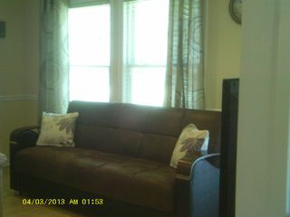 Beach Haven Garden house photo - 2 Large sofa, sits 4 ea. w/ lounge chair, 2 ottomans,new flat screen TV, dvd/vcr