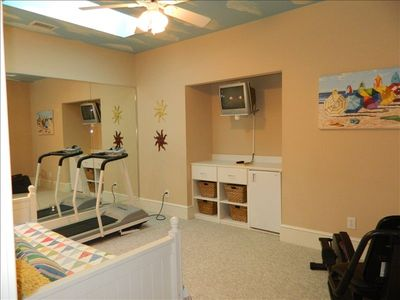 2nd Floor Fitness Room w/ treadmill, bike, & day bed with trundle underneath!