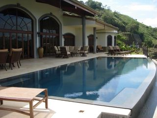 Playa Hermosa villa photo - Infinity Pool and Poolside Patio