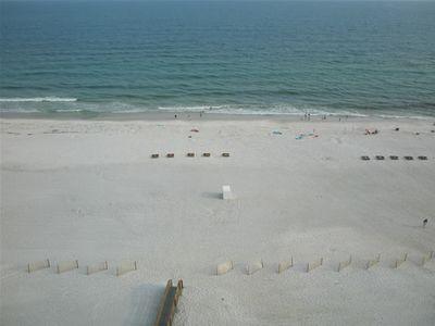 Gulf Shores condo rental - View from the 26 foot wide balcony