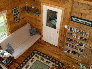 Green Lake cabin photo - Another view of dining/sitting room from loft balcony