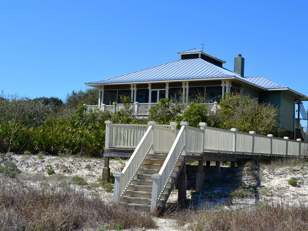 Upscale custom home gorgeous beach front vrbo for Custom beach house